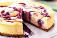 vanilla-rhubarb-baked-cheesecake